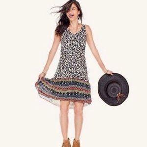 CAbi Leopard Print Safari Dress